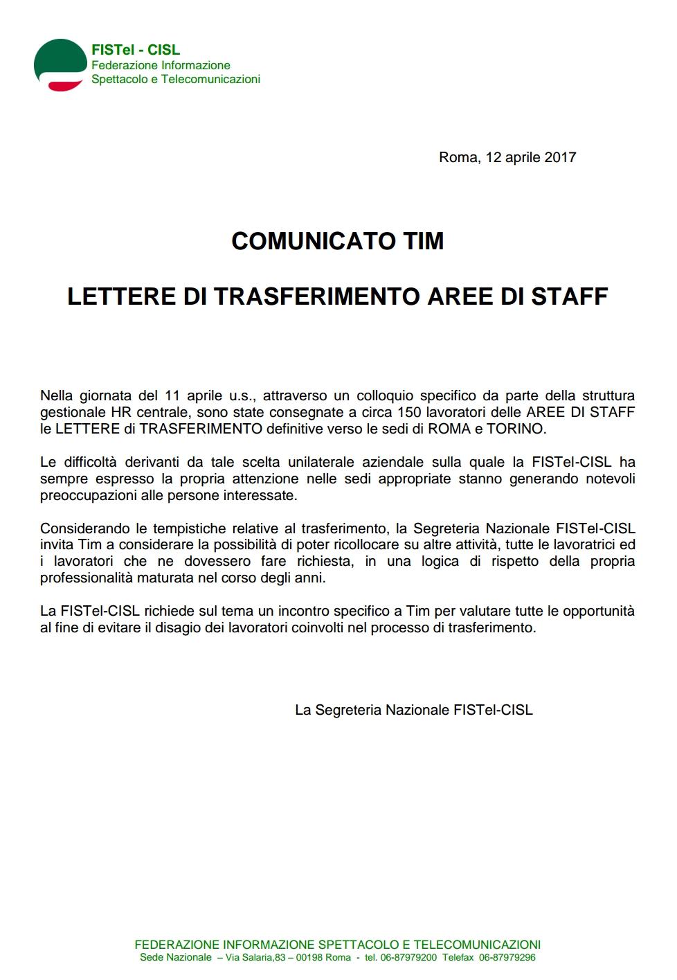 Fistel cisl campania for Soggiorni estivi telecom 2017
